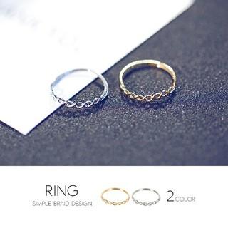 レディース シンプル ねじり リング 指輪 ゴールド シルバー(リング(指輪))