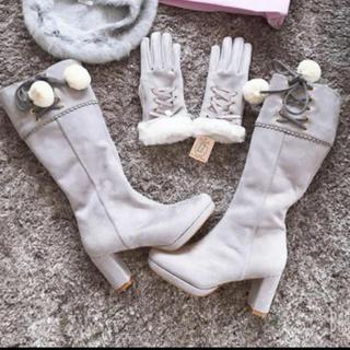 アンクルージュ(Ank Rouge)の新品 LIZ LISA ブーツ・手袋 2点セット(ブーツ)