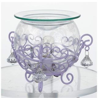 Francfranc - イシグロ ローズガラスアロマライト バラ パープル 紫 アロマオイル 新品未使用
