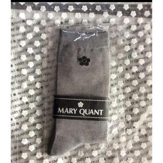 マリークワント(MARY QUANT)の【新品タグ付き】マリークワント💕ソックス 靴下 グレー(ソックス)