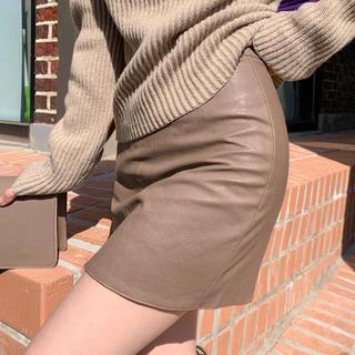 dholic - chuu レザーミニスカート