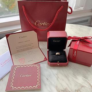 カルティエ(Cartier)のカルティエ❗️ハワイ正規店購入❗️2度使用❗️ほぼ新品❗️定価650,160円(リング(指輪))