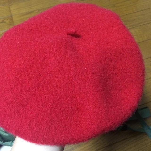 earth music & ecology(アースミュージックアンドエコロジー)の赤 ベレー帽 レディースの帽子(ハンチング/ベレー帽)の商品写真