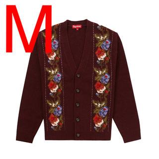 シュプリーム(Supreme)のSupreme Floral Stripe Cardigan Red Mサイズ(カーディガン)