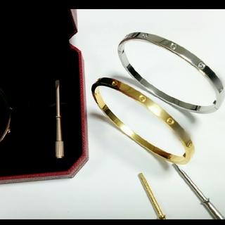 Cartier - 【レア商品】ビス バングル ラブブレス スリムタイプ 17サイズ