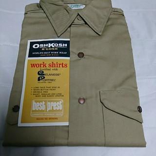 オシュコシュ(OshKosh)の60's70'sビンテージフラッシャー付きデッドストックオシュコシュワークシャツ(シャツ)