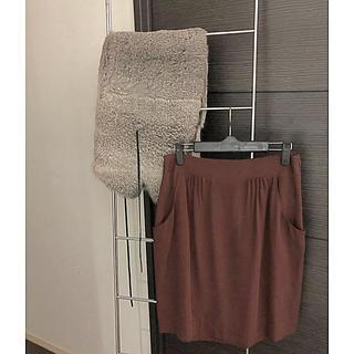ナチュラルビューティーベーシック(NATURAL BEAUTY BASIC)のTheory セオリー 2  スカート×シルク(ミニスカート)