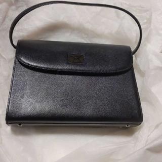 ハナエモリ(HANAE MORI)の新品 HANAE MORI 牛革ハンドバッグ 黒(ハンドバッグ)
