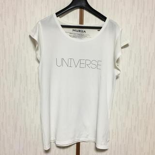 ムルーア(MURUA)のMURUA ロゴ Tシャツ ホワイト 白(Tシャツ(半袖/袖なし))