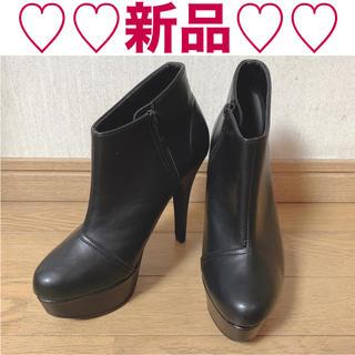 エスペランサ(ESPERANZA)の新品 エスペランサ ショートブーツ ブーティー ブラック Mサイズ(ブーティ)