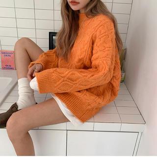 スタイルナンダ(STYLENANDA)の韓国ファッション スタイルナンダ ビッグニット ケーブルニット(ニット/セーター)