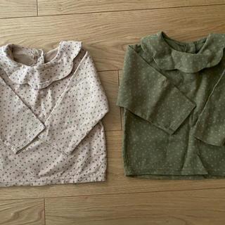 プティマイン(petit main)の韓国子供服 ブラウス 2着セット(ブラウス)
