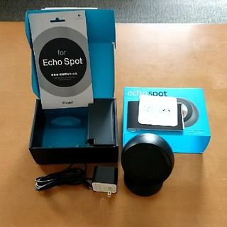 エコー(ECHO)の【Amazon echo spotセット】 本体+箱+スタンド+保護シート付(その他)
