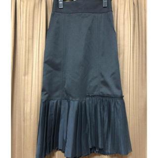 ステュディオス(STUDIOUS)のUnited Tokyo  裾プリーツスカート  ブラック(ロングスカート)