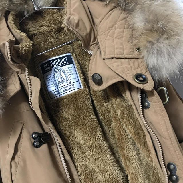 SLY(スライ)の確実正規品 SLY 上戸彩着用 N3B キャメル モッズコート レア商品 完売品 レディースのジャケット/アウター(モッズコート)の商品写真
