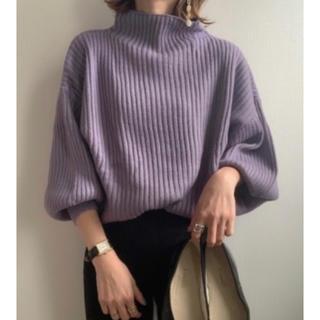 ティティベイト(titivate)のtitivate  グレイッシュパープル セーター(ニット/セーター)