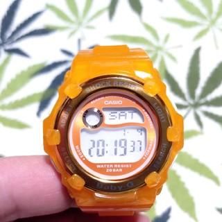 ベビージー(Baby-G)のCASIO Baby-G bg-3001 ジーショック オレンジスケルトン(腕時計)