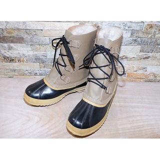 ソレル(SOREL)のソレル ウインタースノーブーツ 黒×ベージュ 2929,5cm(ブーツ)