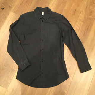 ミュウミュウ(miumiu)のMIUMIU ミュウミュウ ストレッチシンプルシャツ 黒 38(シャツ/ブラウス(長袖/七分))
