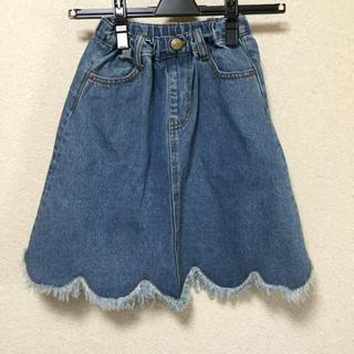 マーキーズ(MARKEY'S)のオーシャンアンドグラウンド デニム スカート110センチ(スカート)