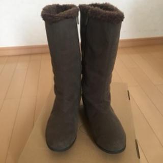 エレッセ(ellesse)のスノーブーツ エレッセ 茶 裏ボア付 24.5〜25センチ(ブーツ)
