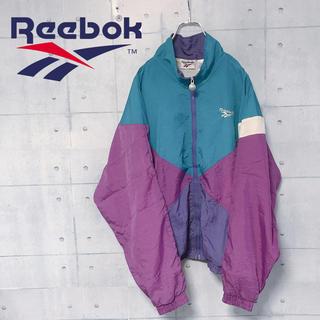 リーボック(Reebok)の★入手困難★ リーボック ナイロンジャケット マルチカラー 刺繍ロゴ(ナイロンジャケット)