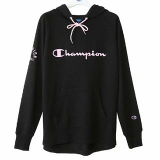 チャンピオン(Champion)の新品 L チャンピオン バスケットボール スウェット パーカー 黒×ピンク(トレーナー/スウェット)