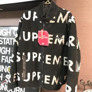 シュプリーム(Supreme)の 新品★ supreme reversible fleece logo ★ L(ブルゾン)