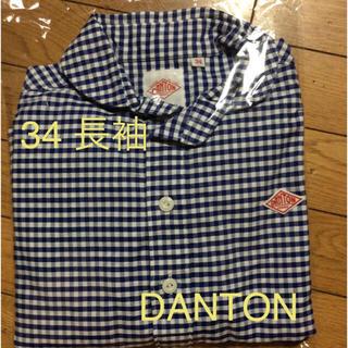 ダントン(DANTON)の ダントン ラウンドカラープルオーバーシャツ ブルーギンガム 34 長袖 (シャツ/ブラウス(長袖/七分))