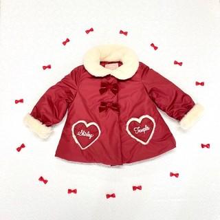 シャーリーテンプル(Shirley Temple)の新品 シャーリーテンプル ハートポケットタフタコート 赤 S(コート)