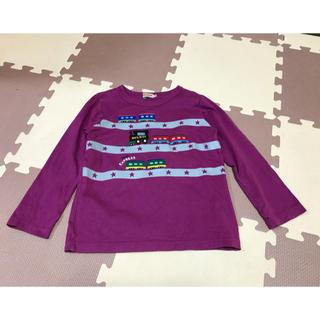 ミキハウス(mikihouse)のミキハウス 120  トレイン長袖Tシャツ 紫(Tシャツ/カットソー)