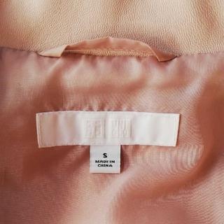 UNIQLO - ピンク ライダースジャケット