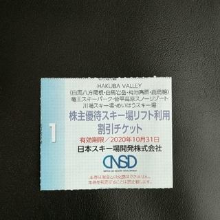 ☆おまけ付き☆ 日本スキー場開発株式会社 スキー場リフト利用割引チケット(その他)