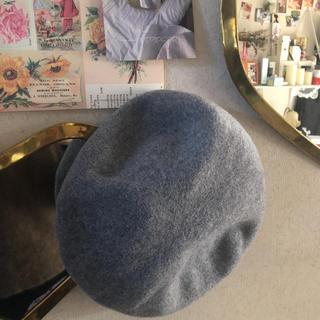 アーバンリサーチ(URBAN RESEARCH)のグレーのベレー帽(ハンチング/ベレー帽)