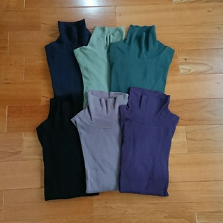 プチバトー(PETIT BATEAU)のプチバトー  タートルネックTシャツ  紫  16ans(カットソー(長袖/七分))