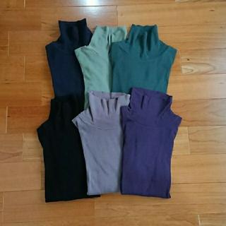 プチバトー(PETIT BATEAU)のプチバトー  タートルネックTシャツ  ブラック  16ans(カットソー(長袖/七分))