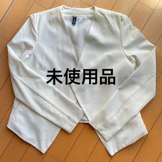 H&M - H&M  ノーカラー ドレープ ジャケット  ☆美品☆卒入学式にも!