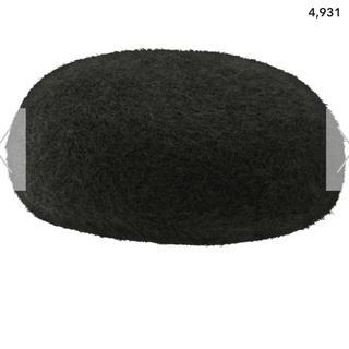 ジーユー(GU)のGU ベレー帽 へアリーベレーハット ブラック(ハンチング/ベレー帽)