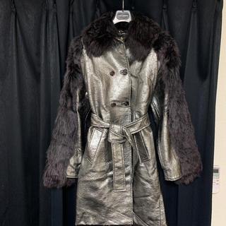 ドルチェアンドガッバーナ(DOLCE&GABBANA)のDOLCE&GABBANA 希少メタルカラートレンチ型コート(毛皮/ファーコート)