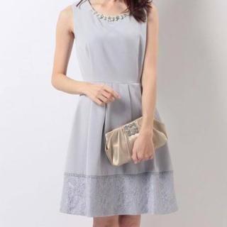 アクシーズファム(axes femme)の裾レースドレス(ミディアムドレス)