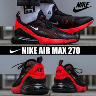 ナイキ(NIKE)のNIKE AIR MAX 270 BLACK / RED 28cm(スニーカー)