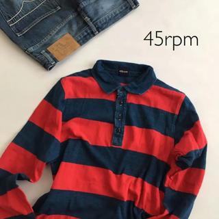 フォーティーファイブアールピーエム(45rpm)の未使用 45rpm ラガーシャツ ボーダー ポロシャツ カットソー(ポロシャツ)