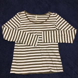 ヴィス(ViS)のvis ボーダー長袖Tシャツ Mサイズ(Tシャツ(長袖/七分))