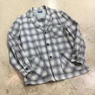 ペンドルトン(PENDLETON)の50s PENDLETON ウールシャツ ジャケット くるみボタン(シャツ)