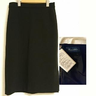 フレームワーク(FRAMeWORK)の新品 FRAMeWORK シンプル ブラック タイトスカート(ひざ丈スカート)
