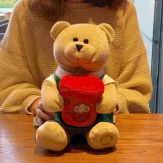 スターバックスコーヒー(Starbucks Coffee)のkiemon様ぬいぐるみ ベアリスタ 熊 リュック 鼠 台湾 スターバックス(キャラクターグッズ)