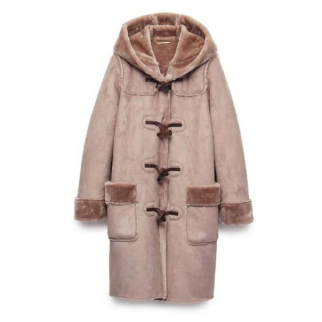 Mila Owen(ミラオーウェン)の定価28,600円 Mila Owen フェイクムートンダッフルコート レディースのジャケット/アウター(その他)の商品写真