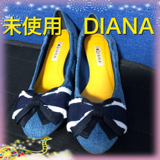 ダイアナ(DIANA)の未使用 ダイアナ リボンパンプス 25センチ ライトブルー(ハイヒール/パンプス)