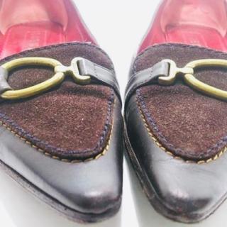 LOEWE - ロエベ LOEWE 靴 フラットシューズ 36 レザー×スエード
