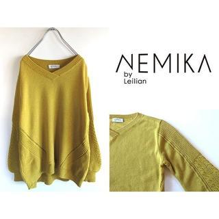 レリアン(leilian)のNEMIKA レリアン ボリューム袖ニット 11 大きいサイズ(ニット/セーター)